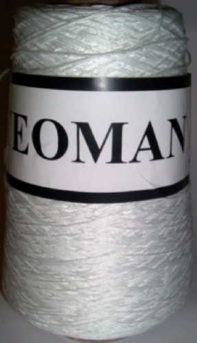 Yeoman Cannele Corded Mercerised Cotton 4ply White Y196.006